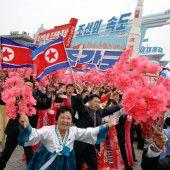 Jubel für Diktator Kim Jong-un