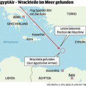 EgyptAir: Wrackteile von Flugzeug entdeckt