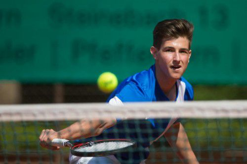 Gabriel Pfanner verlor sein Einzel knapp mit 4:6, 5:7 und beendete das Doppel zusammen mit Lukas Klien siegreich.