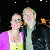 Kabarettistin Gabi Fleisch mit Medizinalrat Horst Hillgarter
