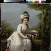 Mädchen, 1785 von Angelika Kauffmann, und Spielzeug aus der Sammlung Iris Alge.