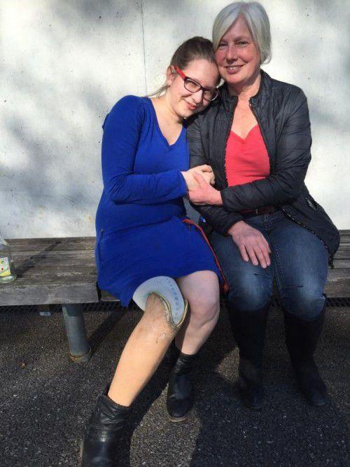 Magdalena Fleisch mit ihrer Mutter Irene.