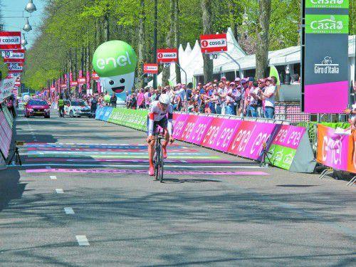 Matthias Brändle fehlten beim Zeitfahren in Apeldoorn 14 Sekunden auf Sieger Tom Dumoulin.
