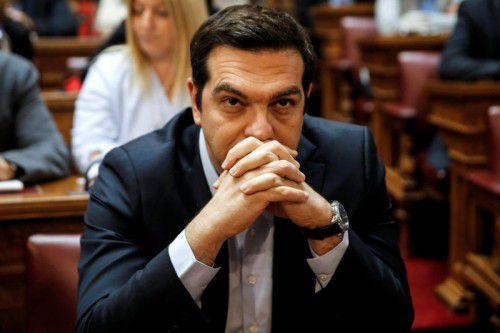 Ministerpräsident Alexis Tsipras warb für die im Parlament beschlossenen Sparmaßnahmen.