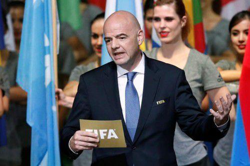 Mit großer Euphorie eröffnete FIFA-Präsident Gianni Infantino den ersten Kongress nach der Ära Joseph Blatter.