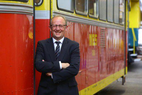 Er hat gut lachen: Montafonerbahn-Vorstandsdirektor Bertram Luger legte eine Erfolgsbilanz vor.VN/HB