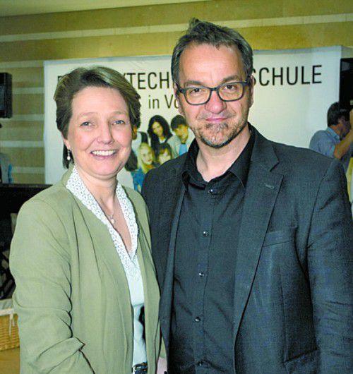 Organisatoren Angelika Walser und Christian Kompatscher.