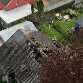 Feuer in Einfamilienhaus