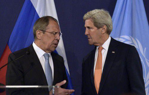 Sergej Lawrow und John Kerry leiten die Syrien-Gespräche.
