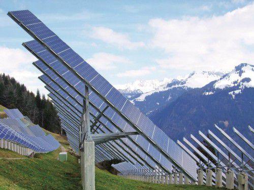 Sonnenenergie wird im Walsertal intensiv genutzt.