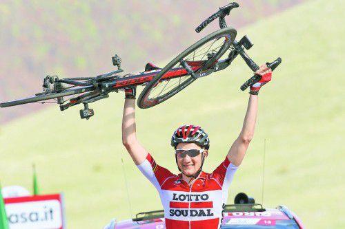 Tim Wellens bescherte dem Team Lotto-Soudal den zweiten Erfolg in Serie beim Giro d'Italia.