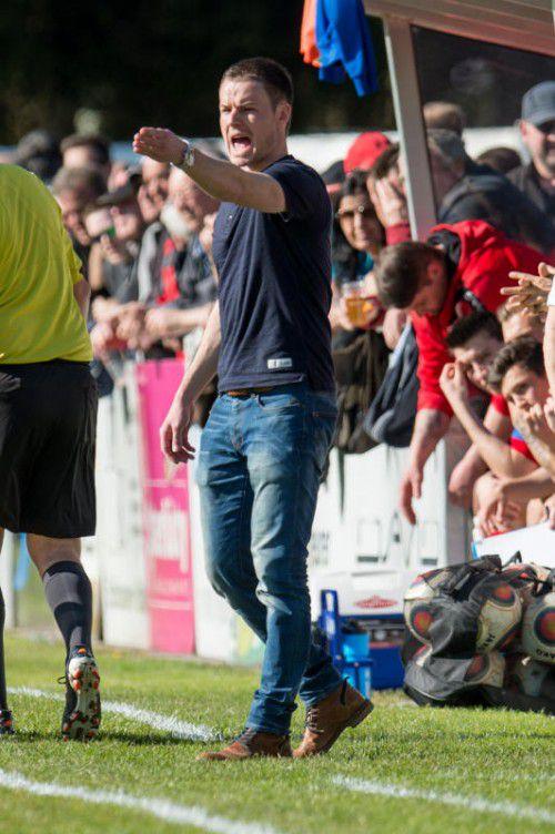 Trainer Werner Grabherr fordert einen Sieg.