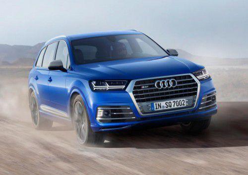 Unbändiger Vorwärtsdrang: In Bewegung ist der bärenstarke Diesel-Audi SQ7 eine Wucht.