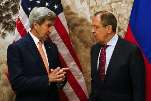 US-Außenminister Kerry und sein russischer Amtskollege Lawrow luden zum Gipfeltreffen nach Wien.