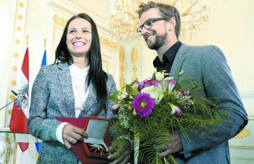 Von Österreich ausgezeichnet: Ski-Ass Anna Veith.