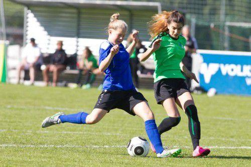 Vorarlbergs Mädchen treffen auf die Alterskolleginnen aus St. Gallen.