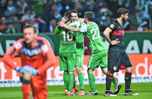 Zlatko Junuzovic und Co. bejubelten sechs Treffer.