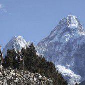 Wieder Bergsteiger auf dem Mount Everest
