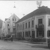 Vorarlberg einst und jetzt. Josef-Wolf-Platz in Bludenz
