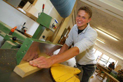 "Andreas Graf ist begeistert vom ""Auslandssemester"" in der Holzwerkstatt Markus Faißt."