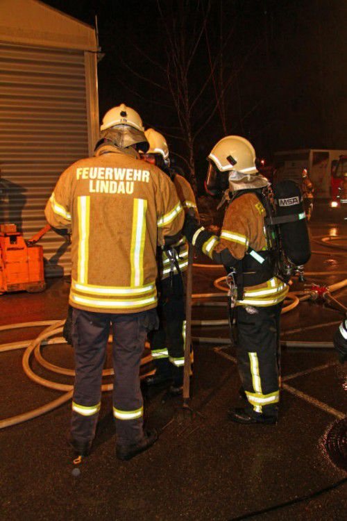 Auch die Feuerwehr Lindau war im Einsatz.