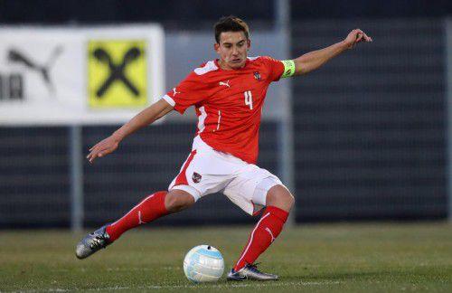 Der Austria-Lustenau-Spieler Marco Krainz führte das ÖFB-Team als Kapitän zu einem 1:1 im EM-Auftakt gegen Portugal.