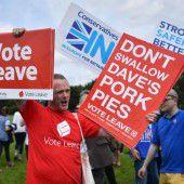 Vor Brexit-Referendum herrscht Hochspannung