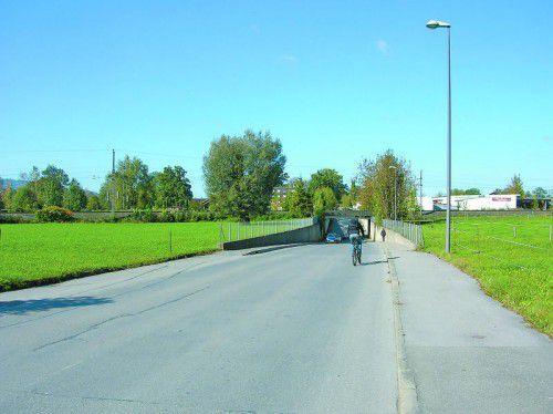Bleichestraße: Teil der Verbindung zwischen Wallenmahd und A 14.