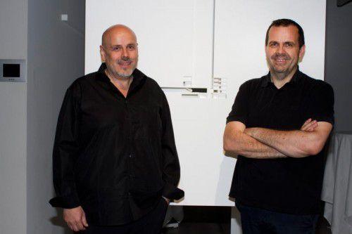 Das Architekten-Brüderpaar Bernhard (l) und Stefan Marte gibt Einblicke in ihre Auseinandersetzung mit Kunst- und Kulturbauten.