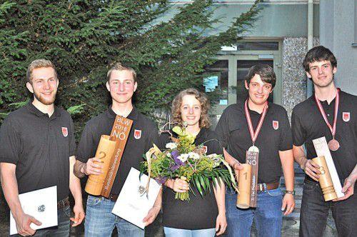 Das erfolgreiche Vorarlberger Team: v.l.: Daniel Versluis, Florian Nenning, Petra Bär, David Grohe, Thomas Fetz.