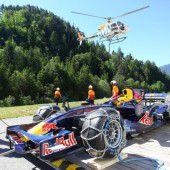Fliegender Bolide versetzt Ludesch in Formel-1-Fieber