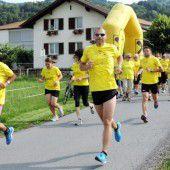 Straßensperre wegen Dorflauf in Gaißau