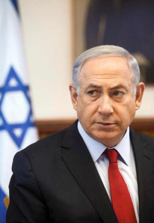 Der israelische Premier Benjamin Netanjahu.