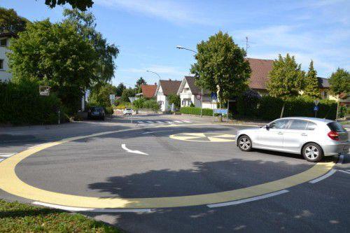 Durch die bauliche Adaptierung der Kreuzungsbereiche sollen die Kreisverkehre deutlich sichtbar werden.
