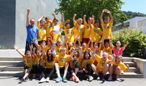 Die 2c-Klasse der VMS Hard-Markt holte sich den Landesmeistertitel im Schulsport.