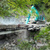 Brückenneubau Richtung Ebnit