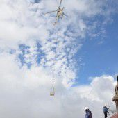 Aufbau in luftiger Höhe