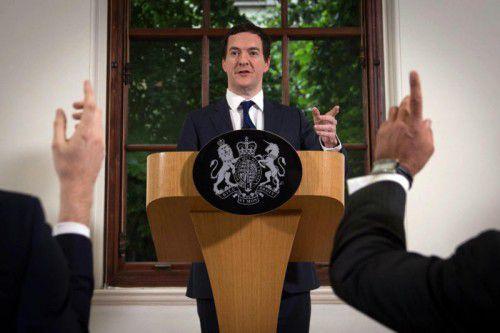 Die britische Wirtschaft sei stark, sagte Osborne. Seine Erklärung sorgte jedoch vorerst nicht für Entspannung.