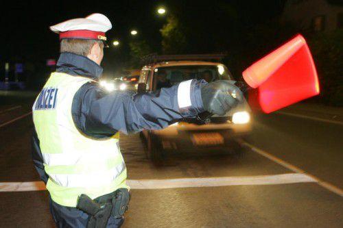 Die Kelle der Polizei beendete die temporeiche Fahrt des Bregenzers.