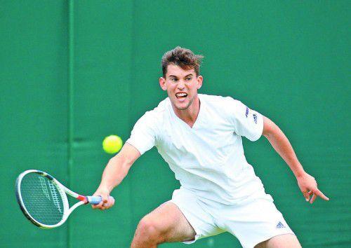 Dominic Thiem lieferte in Wimbledon gegen Florian Mayer einen konzentrierten Auftritt ab.