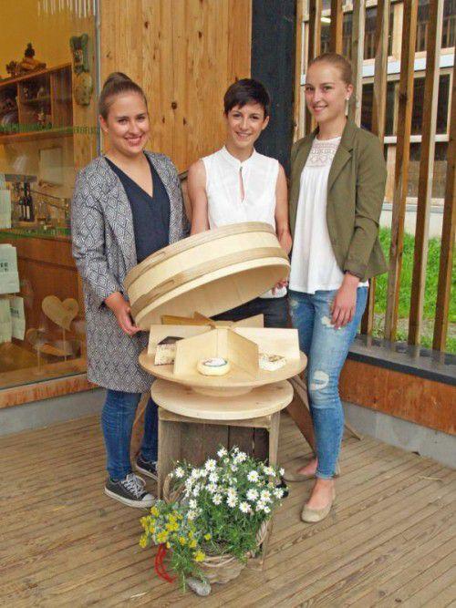 Elena Walch, Verena Marinelli und Magdalena Greussing geben mit Geps-o-flex jedem Käse eine eigene Bühne.