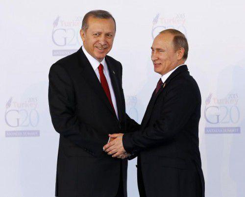 Erdogan (l.) und Putin vergangenes Jahrbeim G20-Gipfel.