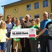 Schüler von vier Schulen im Raum Feldkirch erliefen 10.000 Euro für Ma hilft