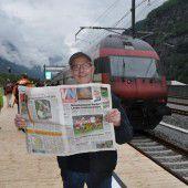 Da schau her! Die VN fährt Eisenbahn