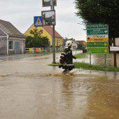 Steiermark knietief unter Wasser