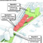 Seequartier Bregenz: Vorrang für den Bahnhof