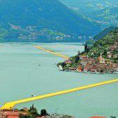 Christos Projekt The Floating Piers auf dem Iseo-See in Oberitalien ist ab kommendem Samstag begehbar