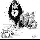 Brüllender britischer Löwe!