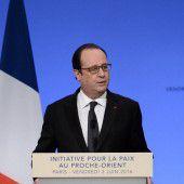 Hollande warnt vor Terror durch Nahost-Konflikt