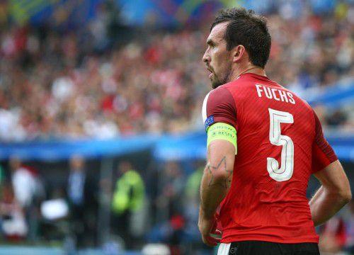 Für Christian Fuchs war die EURO in Frankreich das letzte große Turnier. Er gibt die Kapitänsbinde ab.